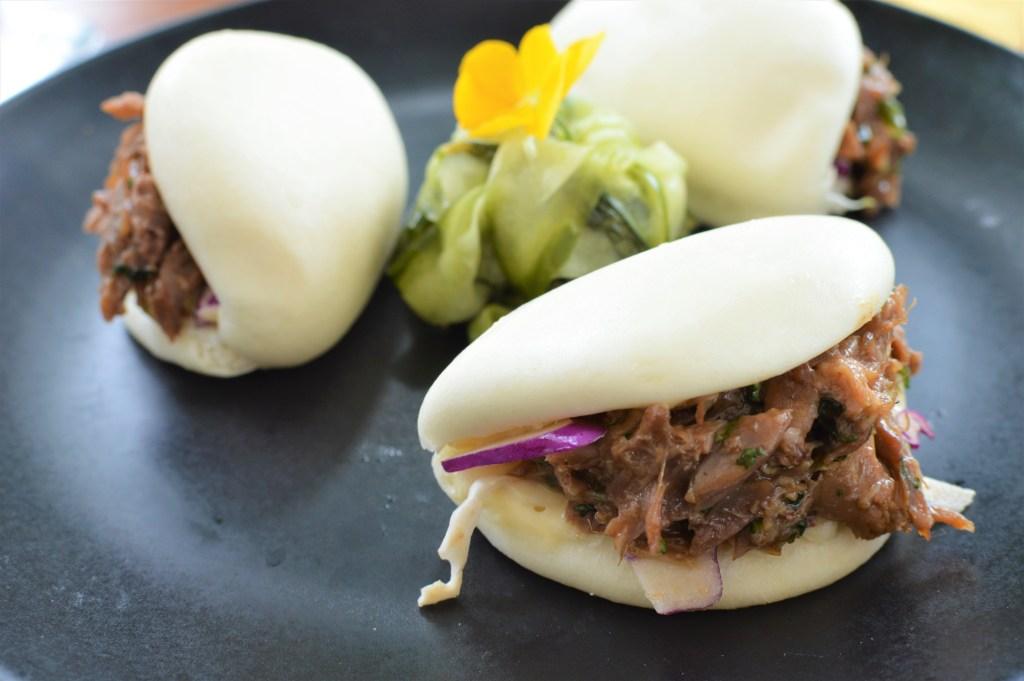 Duck Bao Bun with Cumber salad