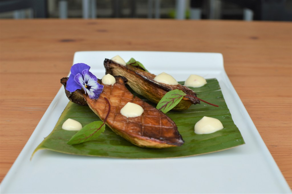 King Oyster Mushroom with chilli lime mayo